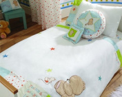 Forever Friends by izziwotnot Cot Bed Duvet Cover & Pillowcase Set - Little Star