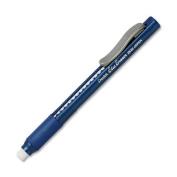 2x Pentel Clic Eraser Pencil-Style Grip Eraser, Blue