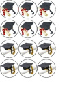 12 Graduation b edible rice paper fairy / cup cake toppers pre cut decorations