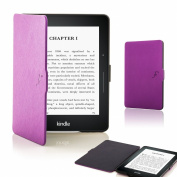 Forefront Cases® New Leather Shell Case Cover for Amazon Kindle Voyage (November 2014) - Full device protection and Smart Auto Sleep Wake function with 3 YEAR Forefront CASES WARRANTY