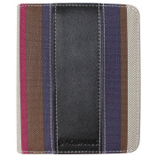 CaseGuru Rainbow Stripe Open Book Style Entertainment Entertainment Wallet Case Cover & Viewing Stand Feature for Kobo Mini eReaders