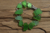 Pretty Green Sea Glass Bracelet