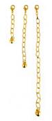 Necklace-Bracelet Extender-3 Piece Gold Tone