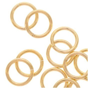14K Gold Filled Open Jump Rings 6mm 20 Gauge