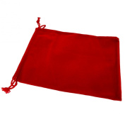 Pack of 12 Red Colour Soft Velvet Pouches w Drawstrings for Jewellery Gift Packaging, 15x20cm