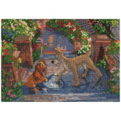 M.C.G. Textiles 52560 Lady and the Tramp Vignette Counted Cross Stitch Kit