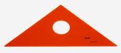 QUINT Premium Professional Fluorescent Orange Acrylic Triangle 1.3cm - 25cm
