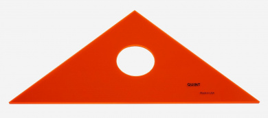 QUINT Premium Professional Fluorescent Orange Acrylic Triangle 1.3cm - 25cm