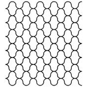 5.1cm Net Pattern Background Quilting Stencil by QCI - BS238