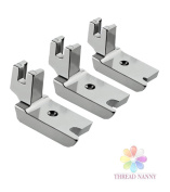 NEW Large Piping/Welting Sewing Foot Package 0.6cm , 0.3cm and 0.5cm Fits All Low Shank Singer, Brother, Babylock, Euro-Pro, Janome, Kenmore, White, Juki, New Home, Simplicity, Elna and More by ThreadNanny