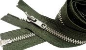Sale 80cm Jacket Zipper YKK #5 Aluminium Metal Medium Weight ~ Separating ~ 567 Olive Green
