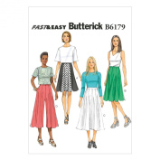 Butterick Patterns B6179E50 Misses' Skirt and Culottes Sewing Template, E5