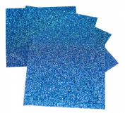 Expressions Vinyl - Blue - 23cm x 30cm 5-pack Siser Glitter Iron-on Heat Transfer Vinyl Sheets