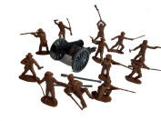 Alamo Texans Plus One Cannon in 54mm By Classic Toy Soldiers, Inc