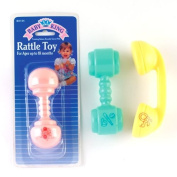 Baby King Rattle Toy, 11cm Long, Bk134, Colours Vary, 1 Each