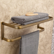 Leyden Retro Bathroom Accessories Solid Brass Antique Brass Finished Bathroom Shelves Space Saver Shelf Wall maounted