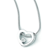 SS White Ice .03ct Diamond Heart Necklace