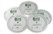 BMI Wheel, Double Sided Adult and Paediatric in Pounds and Inches 5 Pack