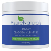 ULTIMATE Dead Sea Mud Facial Mask A 100% Pure, Skin Cleanser, Clarifier, Detoxifier and Natural Moisturiser. This Restorative Anti-Ageing Mask Improves Overall Complexion, Aids in Reducing Acne, Blemishes and the Appearance of Fine Lines & Wrinkles for ..