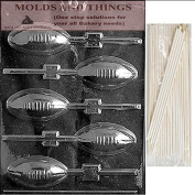 FOOTBALL LOLLY Chocolate Candy Mould With © Moulding Instruction + 25 Lollipop Sticks