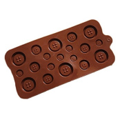 PIAGO 1 Pcs Button Chocolate Candy Mould Cake Topper Silicone Bakeware Cake Baking Mould