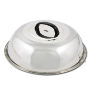 Winco WKCS-14 Stainless Steel Wok Cover, 35cm - Set of 2