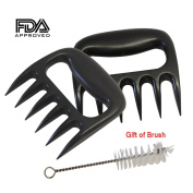 Ocathnon Pulled Pork Shredder Claws BBQ Meat Forks Meat handling & Shredding Claws for Pulled Beef, Pork, Chicken, Turkey SET OF 2 CLAWS with Brush