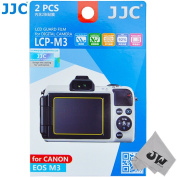 JW LCP-M3 2 Kits Guard Film Digital Camera LCD Display Screen Protector Cover For Canon EOS M3 Camera + JW emall Micro Fibre Cleaning Cloth