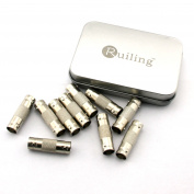 RuiLing 10 Pack BNC Female Jack to BNC Female Coupler Adapters CCTV Security Camera Adapter Straight Connector