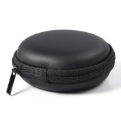 Tpfocus Bluecell Hard Carrying Case Portable Protection Storage Bag For Earphone Headset Headphone Black