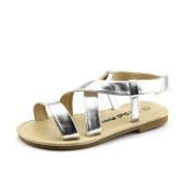 Cute Stylish Girl's Shoes Metallic Silver Rome Sandal youth Size