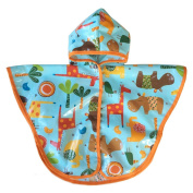 Satsuma Designs Baby and Toddler Poncho, Jungle Animal