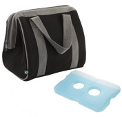 Fit and Fresh Men's Big Phil Insulated Lunch Bag with Ice Pack, Black