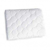 BabyDoll Bedding Waterproof fitted Mini crib/portable Crib Mattress Protector,white
