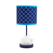 Happy Chic Baby Jonathan Adler Party Whale Lamp and Shade, Blue/White