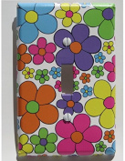Daisy Flower Light Switch Plate Cover in Hot Pink, Purple, Yellow, Blue, Green and Orange