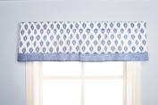 Dena Indigo Window Valance, Blue/White