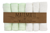 Matimati Bamboo Baby Washcloths (6-pack) - Premium Extra Soft & Absorbent Towels For Baby's Sensitive Skin - Perfect 25cm x 25cm Reusable Wipes - Excellent Baby Shower / Registry Gift
