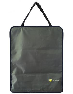 Tike Smart Premium Clean-Edge Kick Mat with Invisible Strap and Stiff Edging - Grey