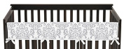 Baby Boy or Girl Unisex Long Front Rail Guard Teething Cover Protector Crib Wrap for Pink and Grey Elizabeth Collection