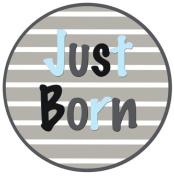 Mumsy Goose Baby Boy Just Born Sticker