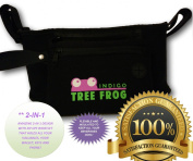 Stroller Organiser Bag, Baby Shower Gift by Indigo Tree Frog - 2-in-1 Dual Design with Wristlet/Nappy Bag for New Mom's - Long lasting, high quality neoprene that looks great and is easy to keep clean - Makes carrying all her essential items with her ..