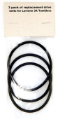 3 pack of Replacement Drive Belts for Lortone 3A Tumbler
