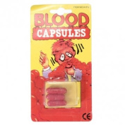 Obsidian 3Pcs Fake Blood Pill Capsules Horror Funny Joking Halloween Party Prop