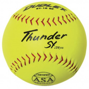 Dudley ASA Thunder SY Slow Pitch Synthetic Soft Ball (0.1.9kg, 30cm ) - Dozen