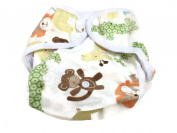 BB2 Baby One Size Printed Minky Minkee Snaps Cloth Nappy Cover for Prefolds