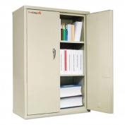 FireKing U.L. 1 Hour Fire Class Storage Cabinet, Silver
