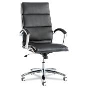 Alera Neratoli High-Back Swivel/Tilt Chair, Black Soft-Touch Leather