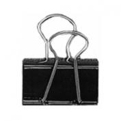 Universal Medium Binder Clips, Steel Wire, 1.6cm Cap., 2.5cm - 0.6cm Wide-Black/Silver, 12 ct