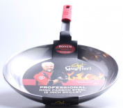 Guy Fieri 5116176 30cm Carbon Fry Pan with Removable Silicone Handle, Large, Steel